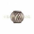 Beads Thai Silver, Silver Bead Stripe 6x5mm