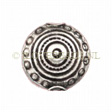 Silver Beads Thailand, Bead Coin Maya 15x9mm