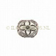 Beads Thai Silver, Bead Flower Square 6mm