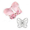 Swarovski ® Crystal - Butterfly beads (5754)