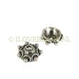STERLING SILVER BEAD CAPS BALI, BUDDHA'S HEAD 8MM