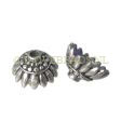 "STERLING SILVER BEAD CAPS BALI, BEADCAP ""SUNFLOWER"" 9MM"
