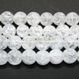CRYSTAL QUARTZ GEMSTONE BEADS - ROUND BEADS 6MM