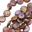 PEARLS BEADS – BIG COIN PEARL BEAD 12 á 13MM - COPPER