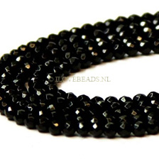 ONYX KRALEN - FACET ROND 4MM