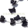 ONYX GEMSTONE BEADS - CARVED BUTTERFLY BEADS 16X12MM