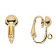 22K GOLD PLATED CLIP ON EARRINGS,  WITHOUT PIERCED EARS!