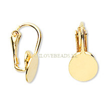 22K GOLD PLATED CLIP ON EARRINGS,  WITHOUT PIERCED EARS! GLUE PAD