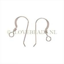EARRING HOOKS 925 STERLING SILVER, PER PAIR