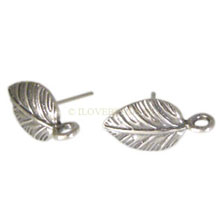 EARRING POSTS 925 STERLING SILVER, EARRING LEAF