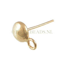 GOLDEN EARRING POSTS (GOLD ON SILVER) ROUND 5.5MM