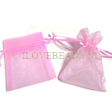 ORGANZA BAGS S, PINK +/- 9x6CM