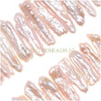 PEARLS BEADS – BIG LIGHT PINK STICK PEARL BEAD 21-28MM