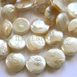 PEARLS BEADS – BIG COIN PEARL BEAD 12MM - WHITE
