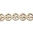 PEACE CHARM - BEAD - BEADS PEACE SIGN 15MM