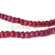 REAL RUBY BEADS, FACETED RONDELLES 3.5MM