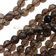 SMOKEY QUARTZ - ROUND FACETED BEADS 6MM