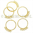 22k GOLD PLATED FIVE LOOP BEADING RINGS ADJUSTABLE