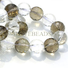 SMOKEY QUARTZ GEMSTONE BEADS - FACETED AAA QUALITY! 12MM