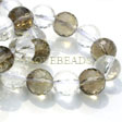 CRYSTAL QUARTZ GEMSTONE BEADS - FACETED AAA QUALITY 12MM