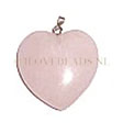 ROSE QUARTZ -  GEMSTONE HART PENDANT 2,5CM