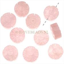 ROSE QUARTZ BEADS - FLOWER BEADS 14MM