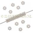 STERLING DAISY SPACER - HELDER ZILVER BALI KRALEN 4MM