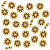 GOLDEN SPACER DAISY, ANTIQUE GOLD 22K GOLD ON SILVER 4MM