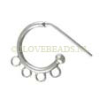HOOP EARRINGS 925 STERLING SILVER, HOOPS WITH 4 LOOPS