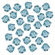 Swarovski Facet Bicone beads 4mm, Aquamarine