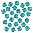 Swarovski Facet Bicone beads 4mm, Blue Zircon