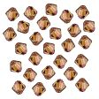 Swarovski Facet Bicone beads 4mm, Crystal Copper
