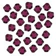 Swarovski Facet Bicone beads 4mm, Fuchsia