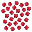 Swarovski Facet Bicone beads 4mm, Light Siam