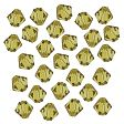 Swarovski Facet Bicone beads 4mm, Lime