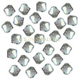 Swarovski Crystal Faceted Beads, Bicones 4mm, Black Diamond AB