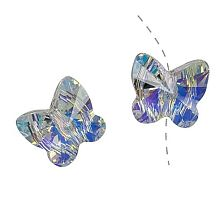 Swarovski ® Crystal Beads - 12mm Butterfly Crystal AB