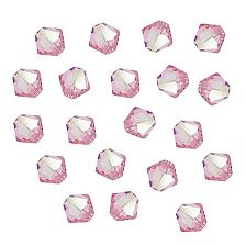 Swarovski Kristal Facet Bicone kralen 4mm, Light Rose AB