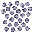 Swarovski Crystal Faceted Beads, Bicones 4mm, Tanzanite