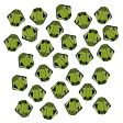 Swarovski Crystal Faceted Beads, Bicones 4mm, Olivine