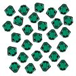Swarovski Crystal Faceted Beads, Bicones 4mm, Medium Emerald