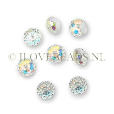 Swarovski beads Faceted, 6mm Rondelles, Crystal AB