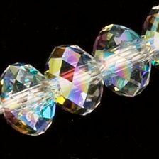 Swarovski Crystal Beads, 4mm Rondelles, Crystal AB