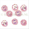 Swarovski Crystal beads 8mm rondelles, Light Rose AB