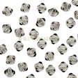 Swarovski Crystal Faceted Beads, Bicones 4mm, Black Diamond