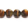 TIGERS EYE GEMSTONE BEADS - FACETED ROUND 12MM