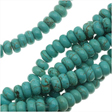 TURQUOISE GEMSTONE BEADS - TURQUOISE RONDELLES 6x2.5MM