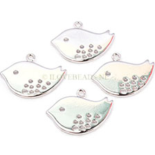 CHARM BIRD -SILVER PLATED