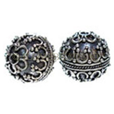 "Beads Bali Silver Sterling 925, Bead ""RICH\"" 13mm"