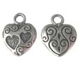 SILVER CHARM HART -  STERLING SILVER